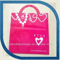 Plastic Package Alibaba Cheap Best Seller Pink Custom Brand Plastic Bag
