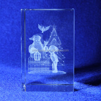 3d Laser engraved Crystal Block MH-F0063