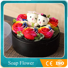 rainbow scented soap roses flowers