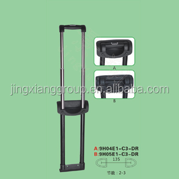 2015 best staggered cheaper luggage handle parts made in china