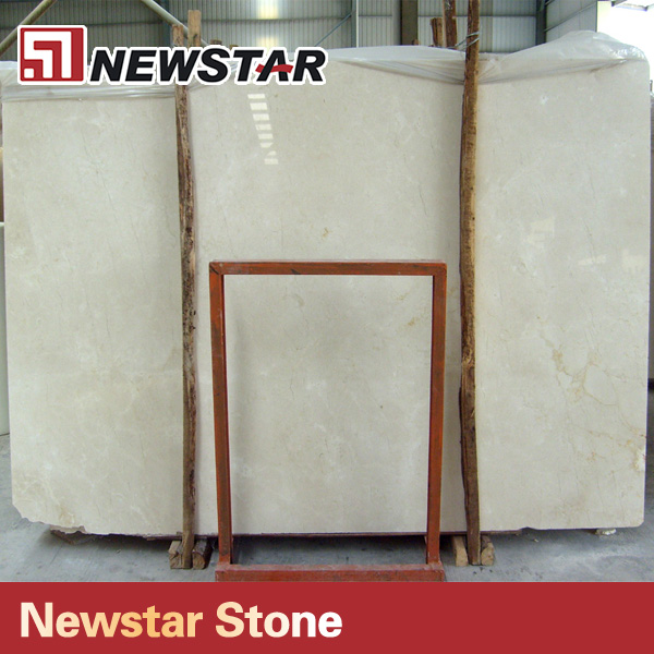 Newstar manufacture polished 3cm crema marfil marble slab price