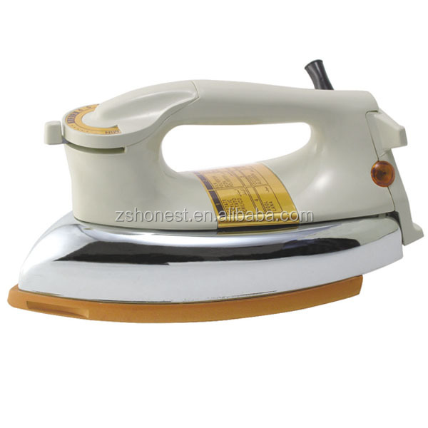 CB approved HN-3530 electric iron heavy duty dry iron 1000w golden/gray/silvery soleplate