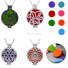 2017 new design cheap wholesale perfume jewelry openable essential oil diffuser aromatherapy necklace