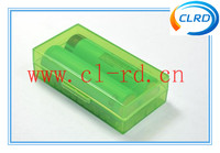 High Quality & Beautiful Clear color 18650 battery holder plastic case/18650 battery plastic battery case/18650 battery case