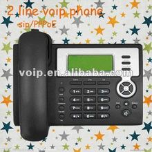 voip phone with 2 sip pppoe IP phone pbx cordless phone