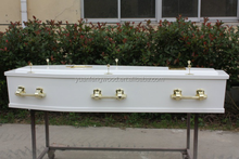 EC1 cheap price white flat packed coffin sales