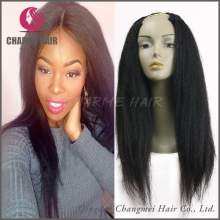Wholesale Price yaki Straight Brazilian Virgin Human Hair U Part Wig
