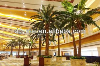Hotel trees,Artifiicial date palm,hotel lobby decor,
