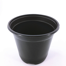 Hot sale plastic black round 6 inch flower plant nursery gardening pots for orchid