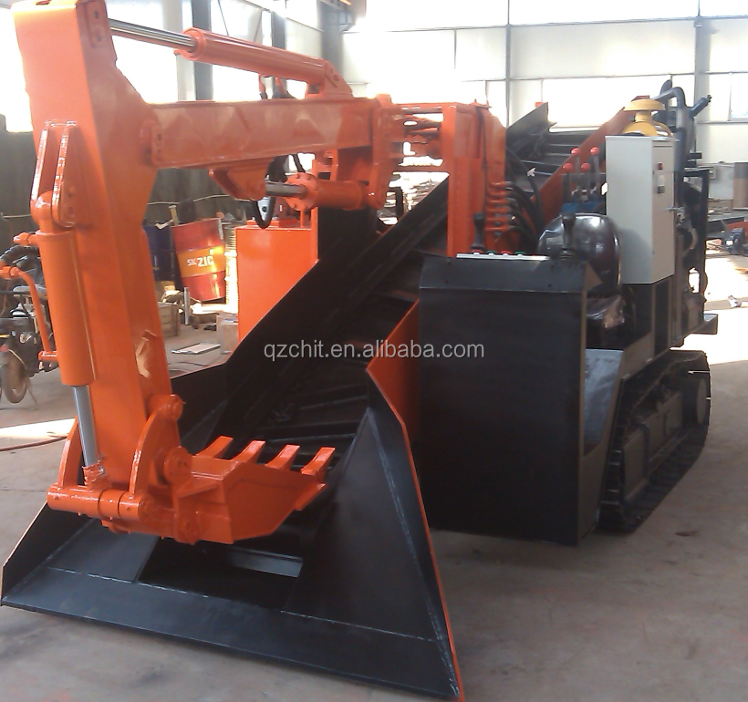 ZWY-80 mining rock loader/ tunnel mucking machine/ mucking rock loader used in mining