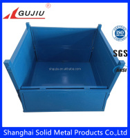 stackable metal crates for heavy duty industrial