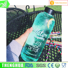 Portable Clear smart water bottle sizes 1000ml 600ml