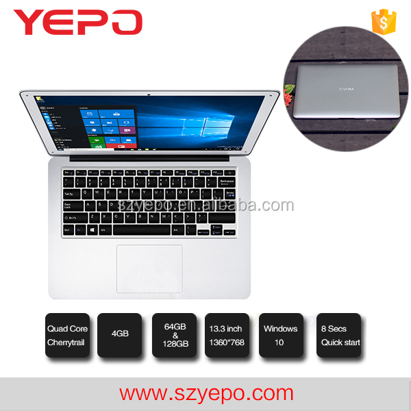2017 For Windows 10 Z8350 4GB DDR 64GB ROM 128GB 13.3 inch Laptop <strong>Computer</strong>, Notebook PC Factory,Not Second Hand Laptop
