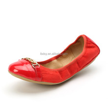 Custom high quality foldable soft flat shoes factory asian shoes women