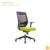 Top grade breathable mid-back mesh green and black color office wheel task mesh chair
