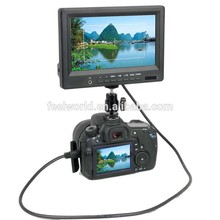 7 inch camera mount lcd monitor with hdmi Video YPbPr Audio inputs hot shoe mount
