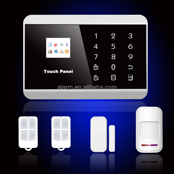 APP gsm intruder alarm system touch screen alarm intruder