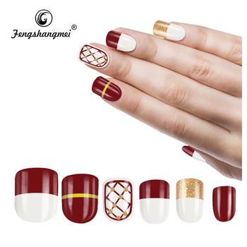 fengshangmei bulk acrylic nail brands 3d fake nails