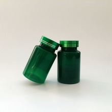 120ml pills plastic round metal cap medicine pharmaceutical green packaging bottle