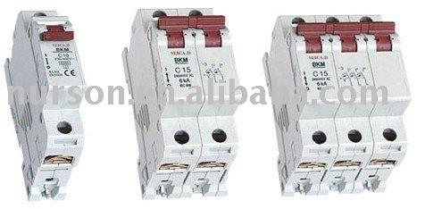 mini circuit breaker/MCB/old circuit breakers BKM old design
