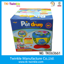 Kids educational toys pat drum toys plastic touch drum toy