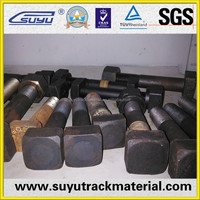 Hot Forged Railway Square Head Bolt By Bolt Machine Used Railway Sleepers