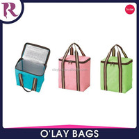 Fashion wholesale insulated lunch bag cooler bag with durable hard liner