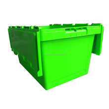 50kgs Attach Hinged Lid Strong Wholesale Plastic Totes