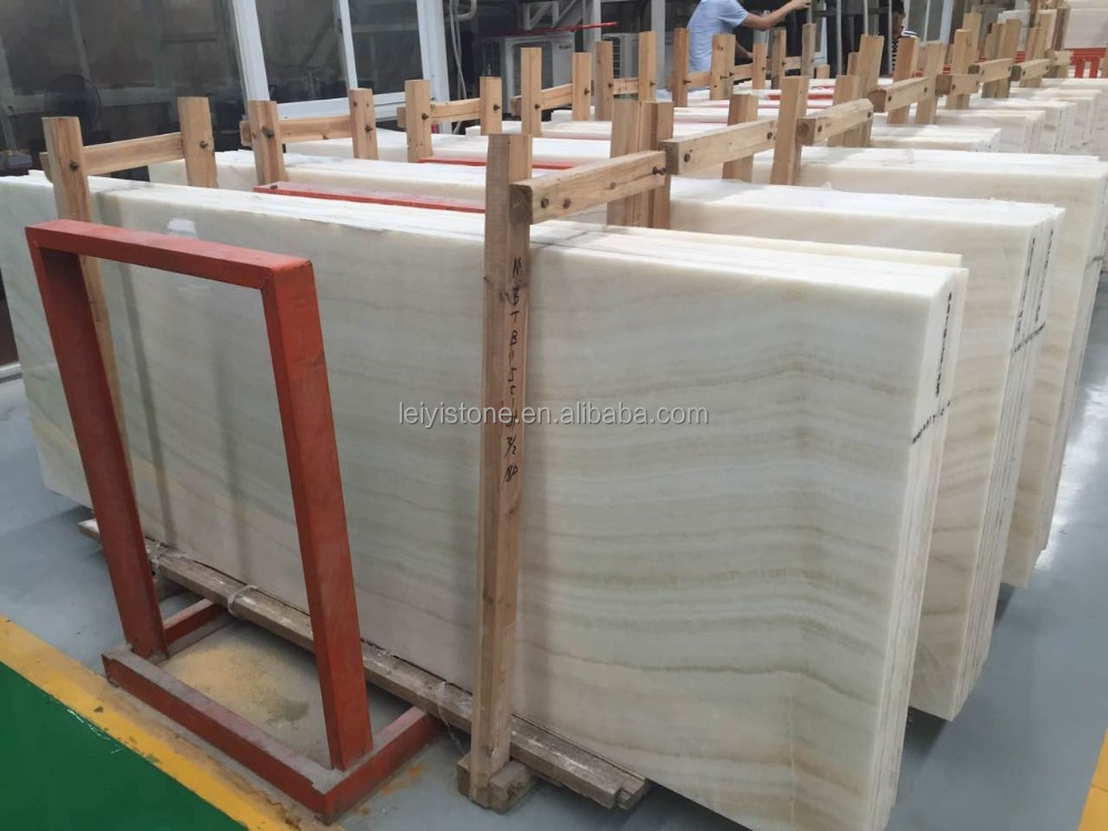 China small dimension 200*130 cm white color natural onyx