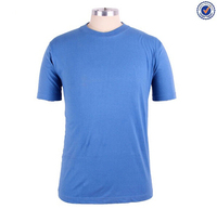 Plain organic cotton t-shirts wholesale clothing xxl six film blue t-shirt
