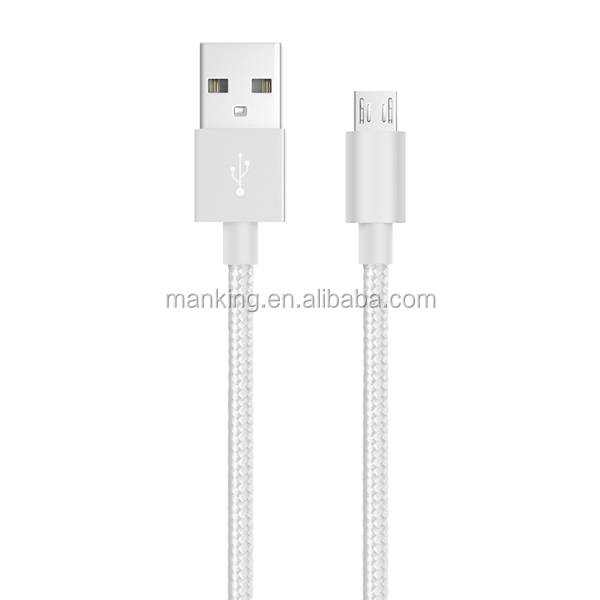 Braided metal Case Micro Usb Cable Mobile Phone Charging Cable For Samsung Galaxy S3 S4 Note2