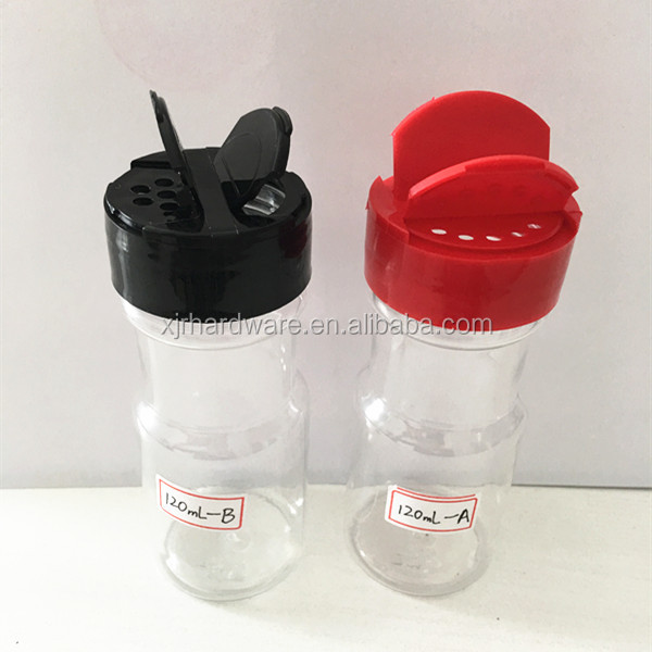 110ml Clear Pet Plastic Bottles/Spice Jars/Container with Shaker Lid