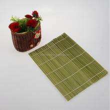 Customized green Japanese recycled bamboo sushi rolling mat