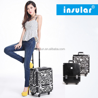 Wholesale Professional Aluminum Makeup Trolley Case For Cosmetic