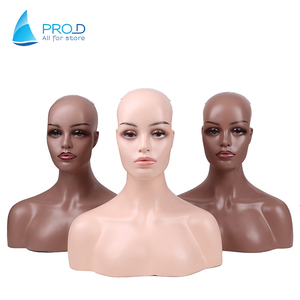 Hot Sale Wig Store Mannequin Wig Display Two Should Mannequin Head