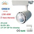 CRI90 40W 2/3/4 Wire led commercial track lighting CE RoHS