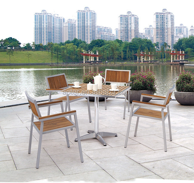 Outdoor plastic wood chair and table set dealers in mumbai