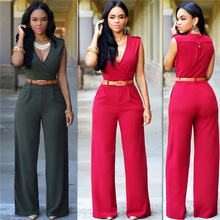 ZH00722B New Design High Quality Trousers Women Sexy Oneside Black Jumpsuits