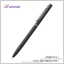 Promotional gun metal pens with custom logo