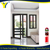 YY windows and doors AS2047 double entry decorative doors hotel entrance doors