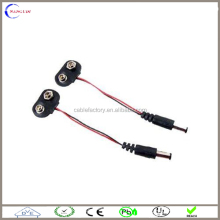 2.1 x 5.5mm Male DC Power Plug to 9V Battery Clips Snap T-Type Cable