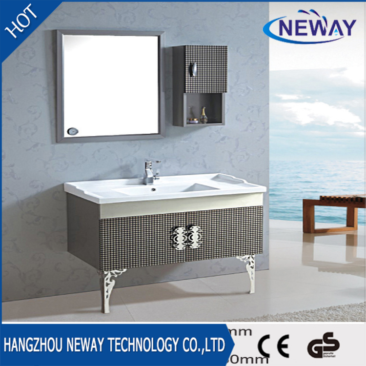 Floor standing stainless steel bathroom sink vanity unit
