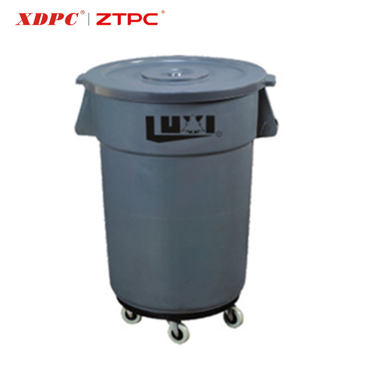 2017 New product 45G plastic mobile dolly trash can