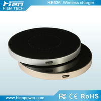 round shape qi wireless mobile charging pad /mobile phone use universal wireless mobile charger