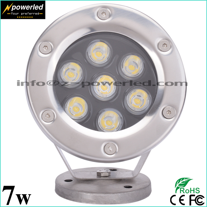 AC DC 12v 24v low voltage waterproof 7w led underwater pool light