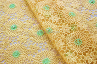 Pretty and colorful superior quality embroidered tulle lace / delicate design spanish lace fabric / wholesale fabric china