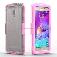 waterproof belt clip case for samsung for galaxy note 4,2 in 1 with stand mobile phone case