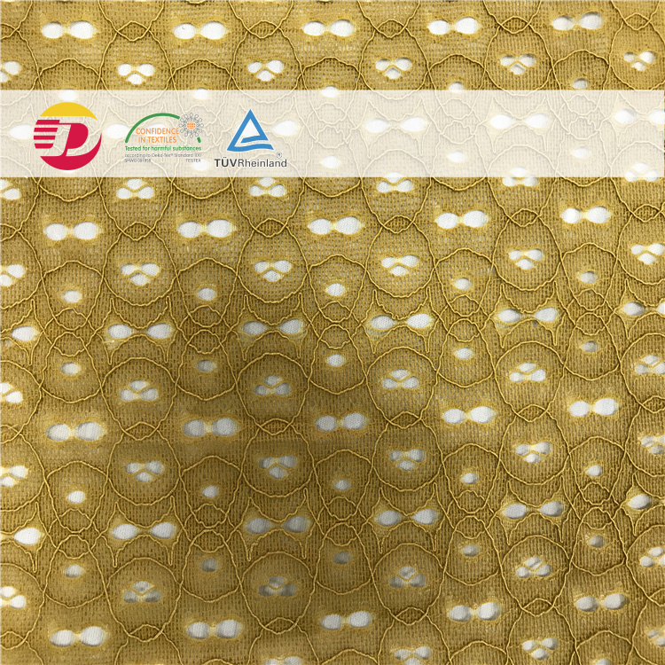 high quality cheap wholesale nylon cotton circle 3D cord lace fabric for ladies clothing