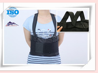 Enhanced back support with two suspenders