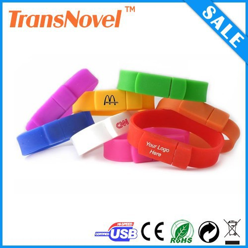 Colorful wristband usb 2.0 flash drive,charm bracelet usb flash drive with logo printing